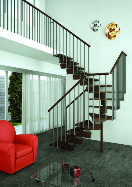 Open trap type timber 1001 trappen for Modelos de escaleras exteriores para casas