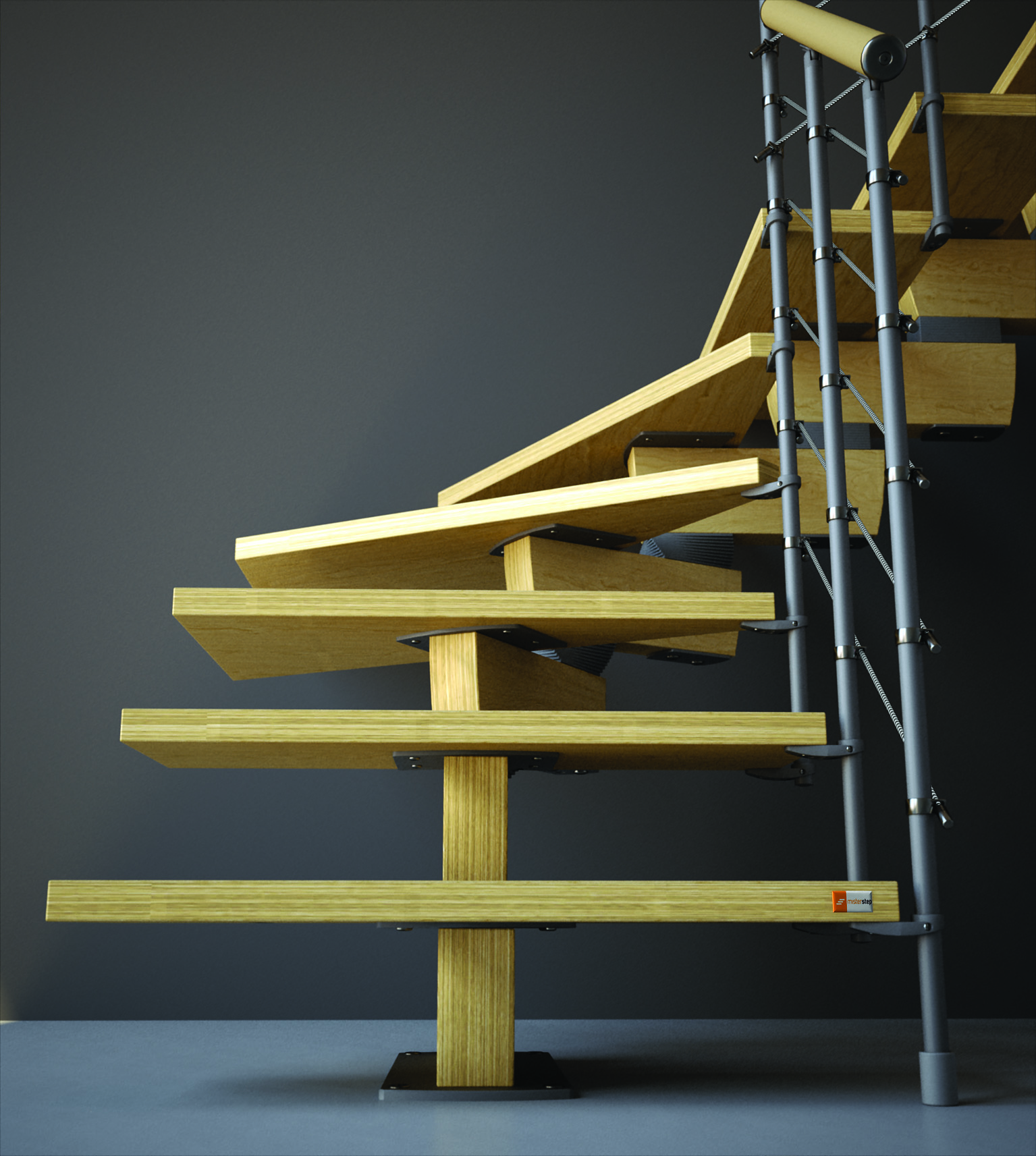 "Timber Staircase Price: Open Staircase Type ""Timber"" Beech"