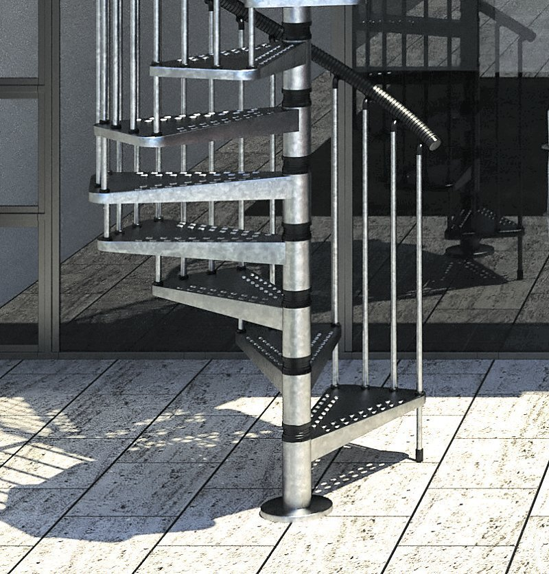 Outdoor Spiral Staircase Type Quot Zink Quot 1200mm L00l Stairs