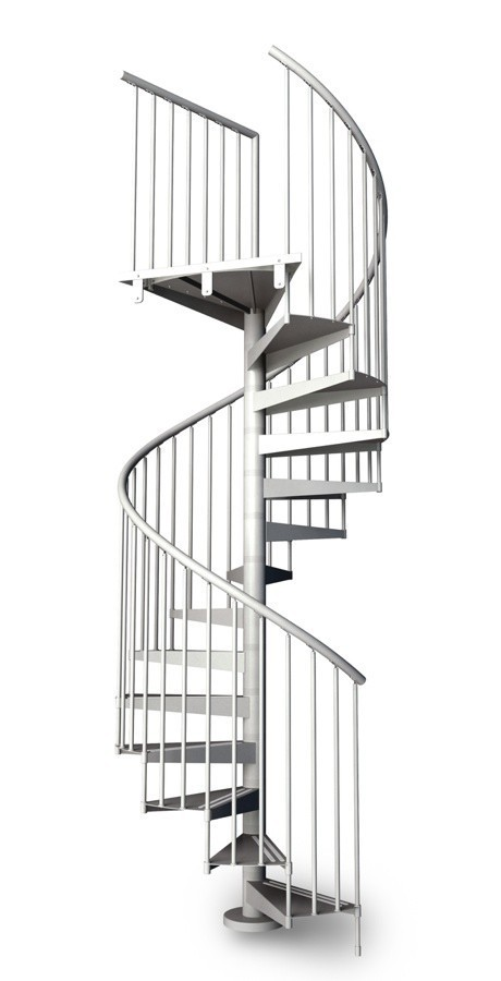 Metal spiral staircase type firenze 1600mm l00l stairs for Aluminum spiral staircase prices