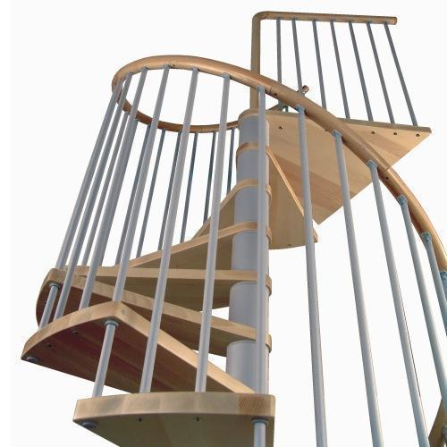 Wenteltrap type capri xxl kersen l00l trappen for Houten wenteltrap