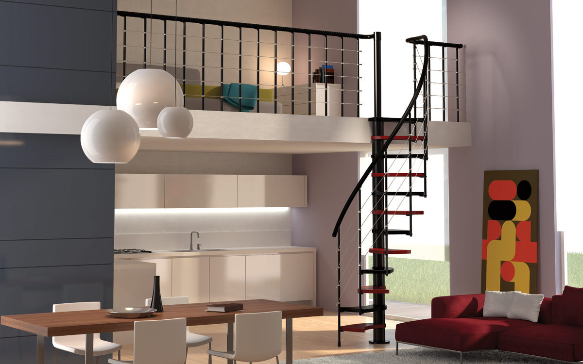 Living Room Space Saving Space Saver Spiral Staircase Type Trio 180a0 L00l Stairs