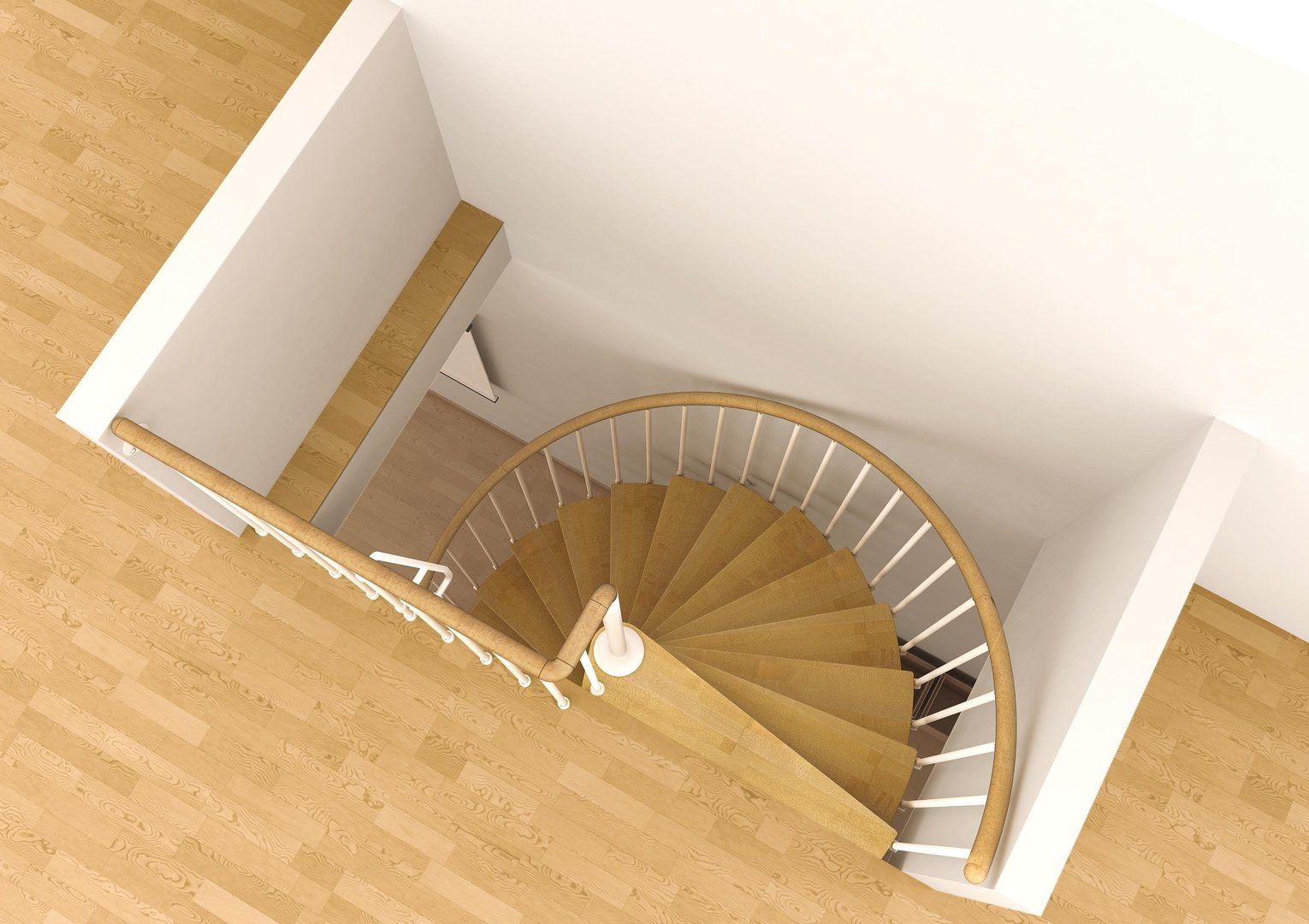 Space saving spiral staircase type toscana l00l stairs - Space saving stair design ...