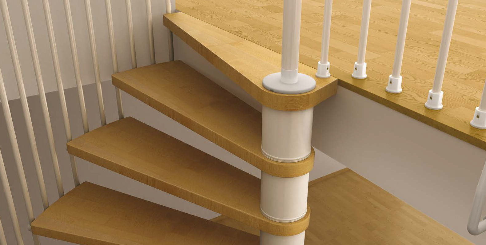Space saving spiral staircase type toscana l00l stairs for Staircases types