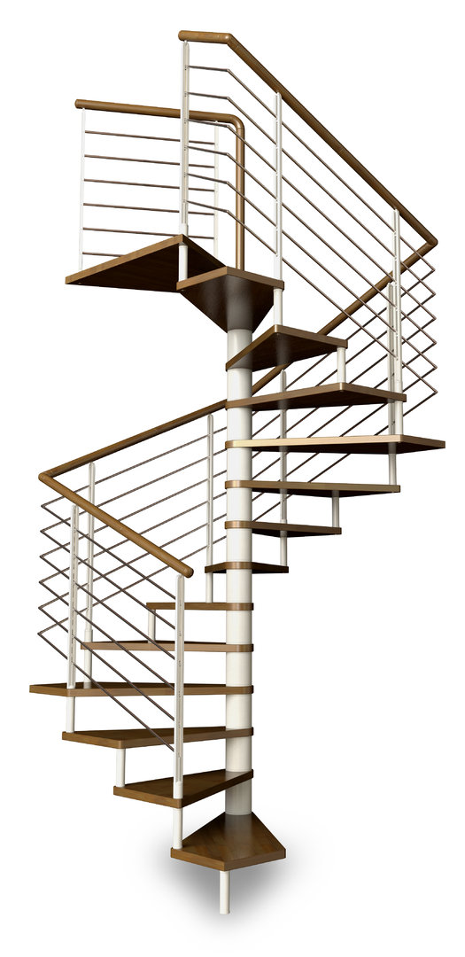 Square spiral staircase type cupello l00l stairs for Square spiral staircase plans