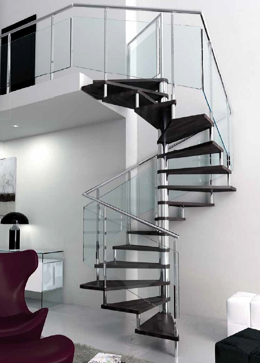 Square spiral staircase type cupello l00l stairs for Square spiral staircase plans hall
