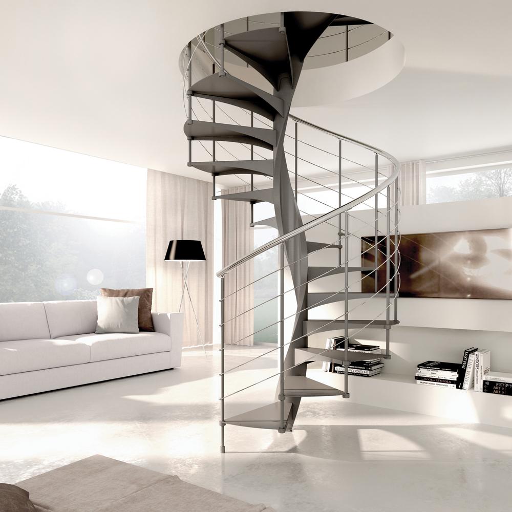 Wenteltrap type enna l00l trappen for Houten wenteltrap