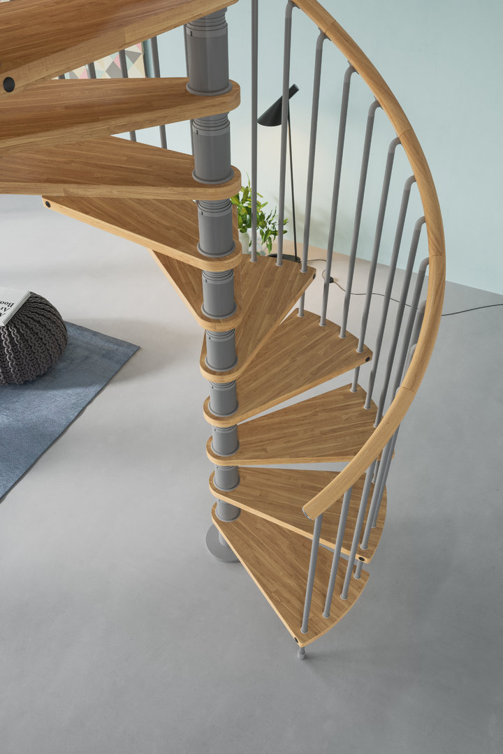 Spiral staircase type gamia l00l stairs for Staircases types