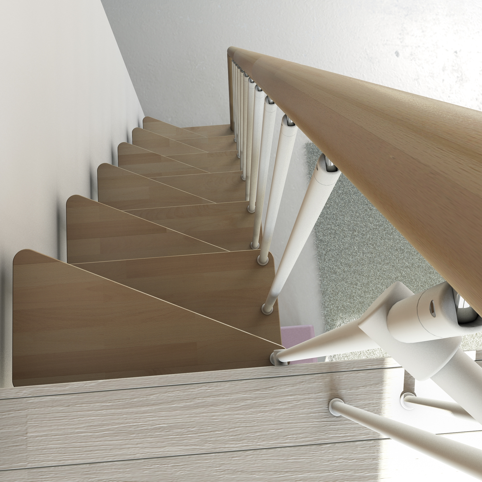 """modern attic apartment renovation ideas - Space Saver Staircase Type """"Torino"""" l00l Stairs"""
