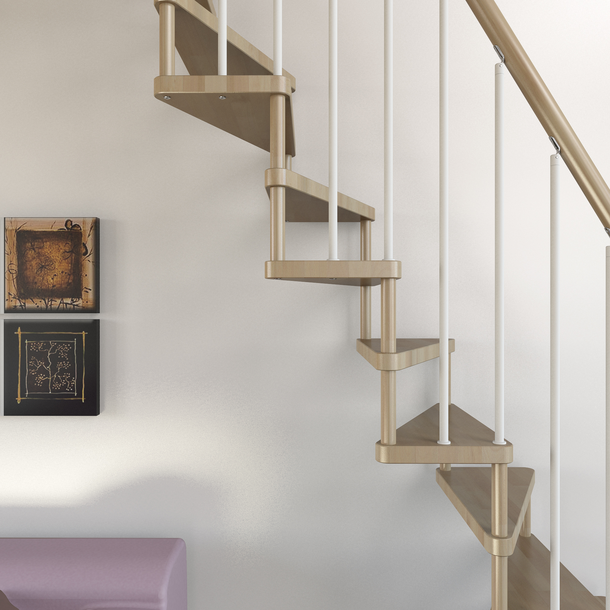 "garage landing and stairs ideas - Ruimtebesparende Trap Type ""Torino"" l00l Trappen"