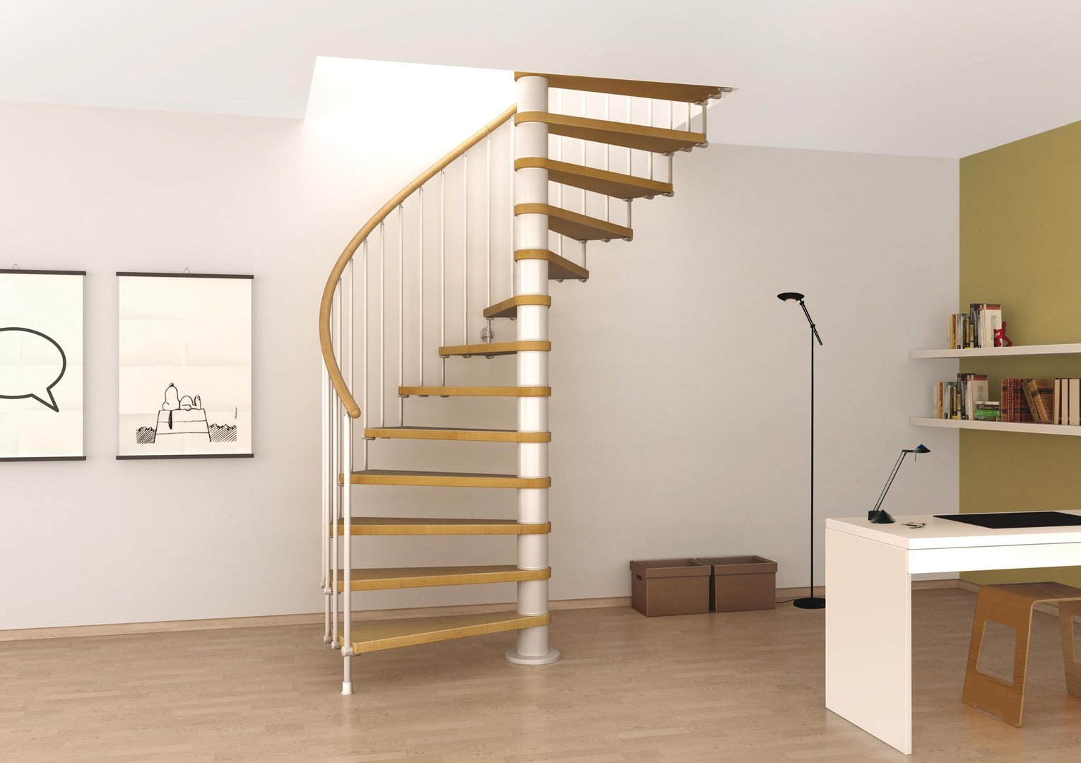 """loft conversion ideas external - Space Saving Spiral Staircase Type """"Toscana"""" l00l Stairs"""